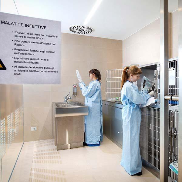 Degenza infettivi AniCura CMV Varese